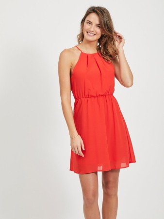VIMICADA DRESS FLAME SCARLET